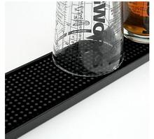 23inch Rectangle Rubber Beer Bar Service Spill Mat for table black waterproof pvc mat kitchen glass coaster placemat free ship(China)