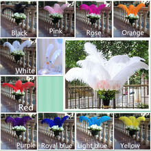 DHL Fast delivery logistics! sale 50pc quality light  ostrich feathers, 26-28inches / 65-70cm, DIY wedding decorations
