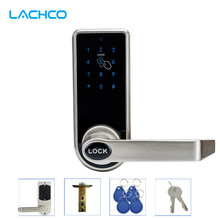LACHCO Electronic Door Lock Touch Screen Password, 4 ID Cards, 2 Keys, Digital Code Keyless Latch Bolt Lock Smart Home L16073BS(China)