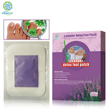 KONGDY Adhesive Detox Foot Care Plaster 10 Pieces/Box Lavender Bamboo Vinegar Detox Foot Patch Beauty Slimming Pad