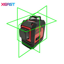 XEAST XE-13A Green 3D laser level meter 12 Lines 360 degree Vertical Cross Super Powerful With oblique line(China)