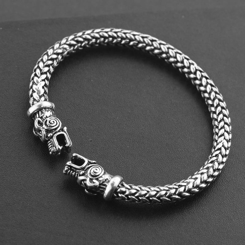 Gothic-Punk-Norse-Viking-Bracelet-High-Quality-Fashion-Two-Dragon-Heads-Screw-Bracelets-Bangle-For-Men
