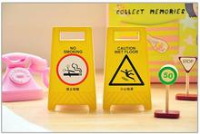 1PACK/Lot Post it Yellow warning board Sticky notes Memo pad sticker Stationery Office material school supplies