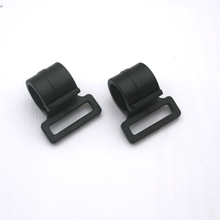 100pcs black KAM plastic snap clip hooks carabiner hook backpack webbing strap 20mm bag accessories M474B-20