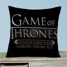 Customized U.s. Drama Ice And Fire Rights Of The Game Decorative Soft Short Plush Throw Pillow Sofa Office Car Seat Cushion(China)