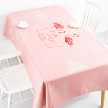 Pink flamingo table cloth linen tablecloth cover towel thick antependium party home banquet outdoor decoration desk round(China)