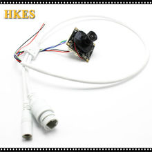 Wholesale 100Pcs/lot H.264 1080P 720P 960P Mini IP Cam 25fps 2mP CCTV IP camera module board with LAN cable