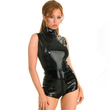 Buy huarache air 2016 sexy Ma'am PVC Siamese Tight Rear zipper Open file Nightclub perform latex catsuit pole dance latex bodysuit