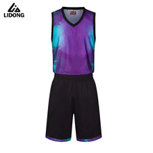 LIDONG 2017 Men Women 3D Basketball Jersey Sets Uniforms Breathable throwback basketball Sports jerseys Shorts quick dry Custom