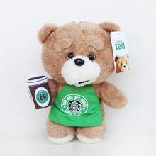 20cm Movie Teddy Bear Ted 2 Plush Toys In Apron Teddy Bear Cosplay Plush Soft Stuffed Animals Toys Doll for Children Kids Gift(China)