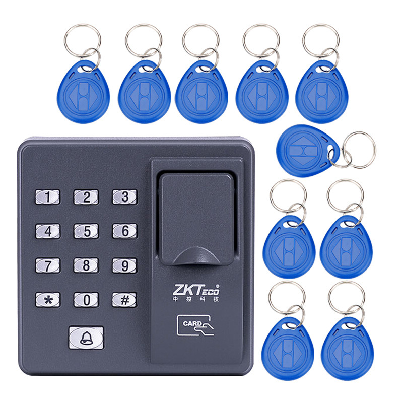 Digital electric RFID reader finger scanner code system biometric recognition fingerprint access control system X6+10pcs keyfobs<br><br>Aliexpress