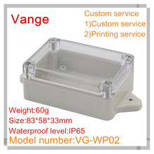 1 Transparent cover wall-mounted injected plastic material case IP65 waterproof ABS diy junction box 83*58*33mm - China Cost-effective project enclosure Store store