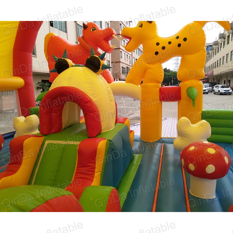 inflatable bouncer slide fun city castle(27)