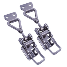 2Pcs Blue Zinc-Plated Adjustable Toggle Latch With 3 Mounting Holes Catch Lock Speed Clamp Bolt Max Load 60KG Box Buckle Latch(China)