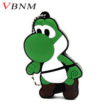 VBNM New Cartoon Mario Yoshi model usb flash drives 16gb usb 2.0 memory stick pendrives Genuine 8GB pen drive 32gb