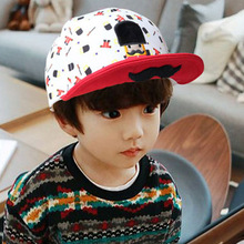 2016 New Baby Hats Cartoon Beard Soldier Colourful Sun Hats Baby Baseball Caps Character Printed Kid  Visors Caps
