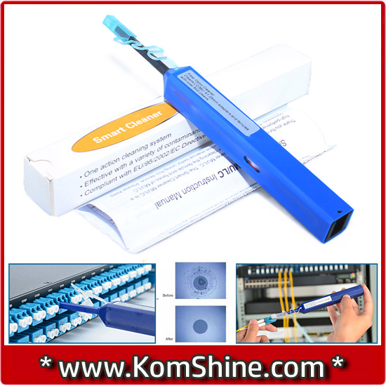 800 Cleanings KOMSHINE KOC-125 One Click Cleaner, Pen type Cleaner FOR LC,MU 1.25mm Ferrule(China (Mainland))