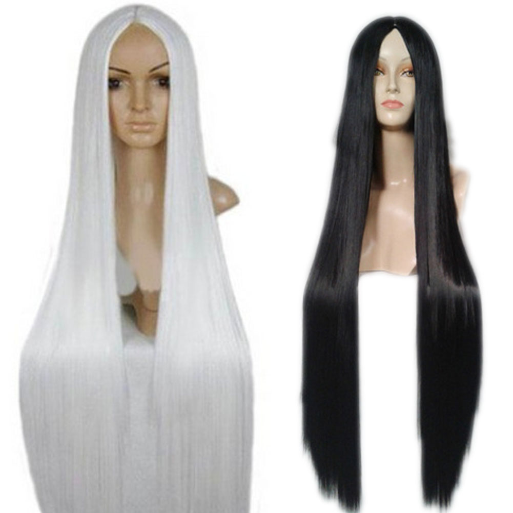 100 Cm Harajuku Anime Cosplay Wigs Young Long Straight Synthetic Hair Wig Costume Party Wigs For Women 88<br><br>Aliexpress
