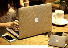 "Hard Case Silk Pattern Leather Cover Snap-on Shell Protective Skin Ultra Slim Light Weight for Apple Macbook Pro 15-inch 15.4""(China)"