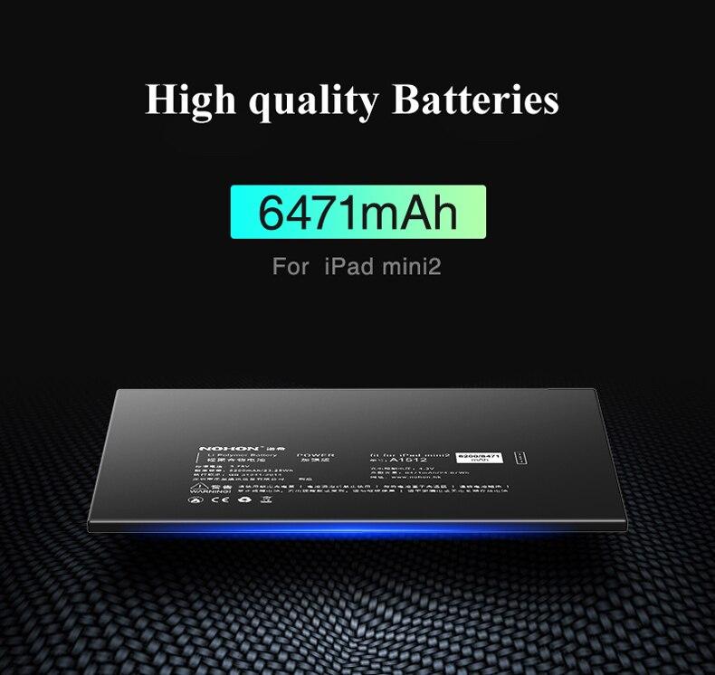 Nohon Battery For iPad mini 2 3 A1512 mini2 mini3 6200-6471mAh A1489 A1490 A1491 A1599 Bateria For Apple iPad mini 2 3 Batteries Details (06)