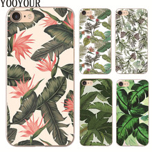 Banana leaves plastic Cover Case For Apple iphone 4s 5 5s SE 5c 6 6S 6PLUS 7 7PLUS X 8 8PLUS(China)