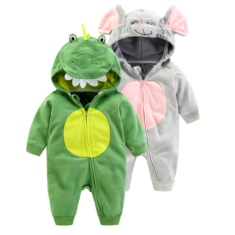 New Fashion Cotton Baby Romper Autumn Winter Animal  Design Boy Girl Jumpsuit Newbron Infant Baby Cloth<br>