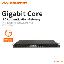 COMFAST Full Gigabit Core Gateway AC gateway controller MT7621 wifi project manager with 4*1000Mbps WAN LAN port 880Mhz CF-AC200(China)