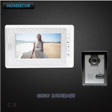 "HOMSECUR 7"" Video Door Entry Phone Call System Electric Lock Supported for Home Security(China)"