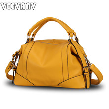 2017 VEEVANV Trend Boston Women Handbag 6 color Leather Ladies Tote Bag Casual Shoulder Bag Female Elegant Handbag Famous Brands(China)