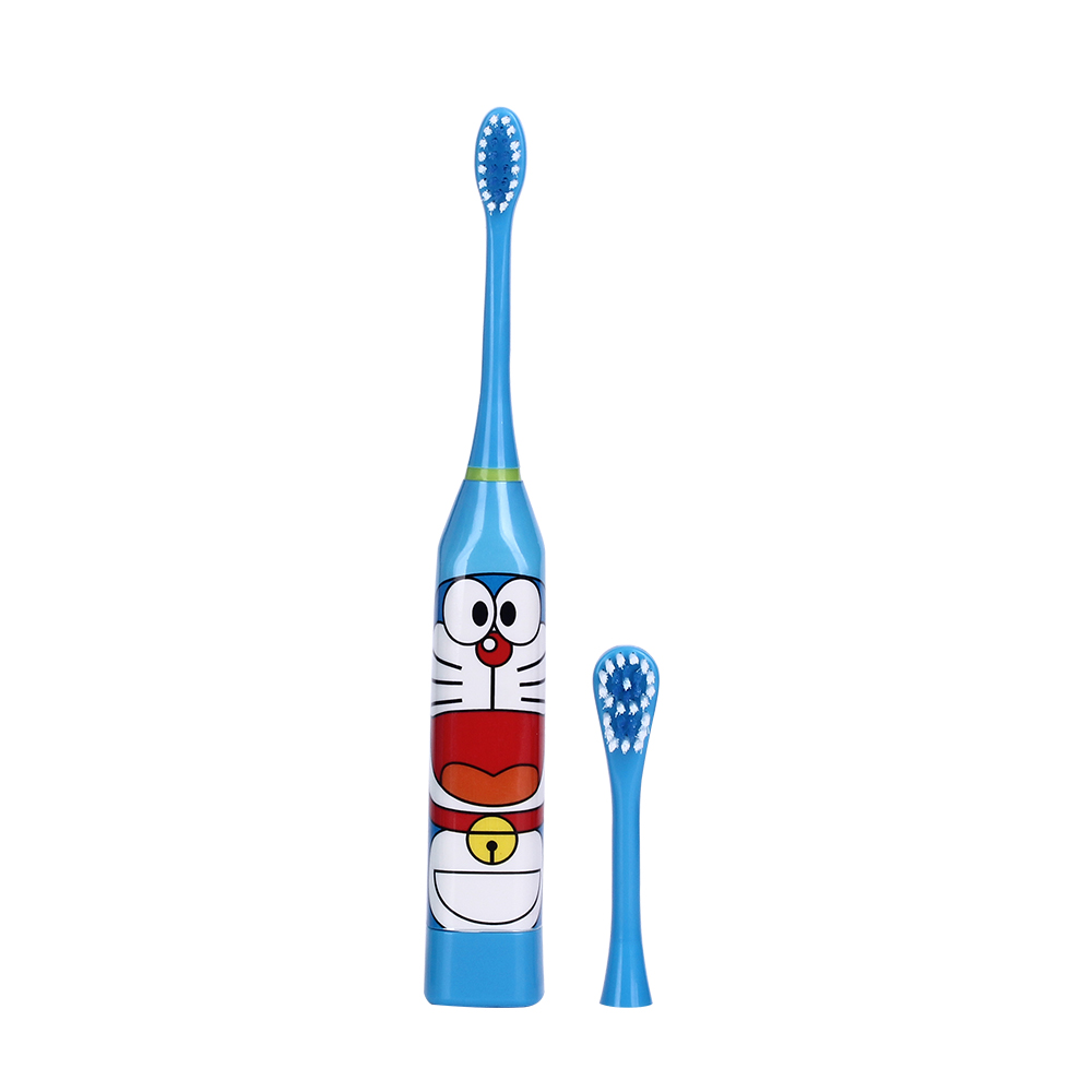 Hot Cartoon Pattern Children Electric Toothbrush Double-sided Tooth Brush Heads Electric Teeth Brush with 2 pcs Heads For Kids 12