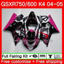 Bodys For SUZUKI Pink corona GSXR 600 R600 GSXR 750 04 05 K4 GSX-R750 30SH4 GSX-R600 GSXR750 04 05 GSXR600 2004 2005 Fairings(China)