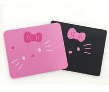 Hot selling!Alfombrilla Raton cat mouse pad cute pink and black mouse pad notbook computer mouse ff-mp6(China)
