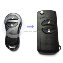TEMREIPO New Key Shell for Jeep Grand Cherokee For Chrysler PT Cruiser Voyager Conversion Flip Remote Key FOB with blank blade