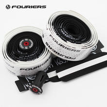 Fouriers Dual Color Bicycle Drop Handlebar Tape PU with Foam 700C Road Bike Handle Bar Double Colour Tapes Belt white&black(China)