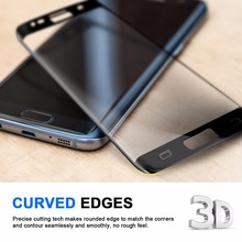 3D Full Cover Premium Tempered Glass For Samsung Galaxy S7 Edge 3D Curved Screen Protector For Galaxy S6 Edge Plus Glass Films