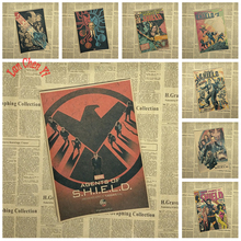 Science fiction film Agents of S.H.I.E.L.D. Kraft Paper Poster Bar Cafe Living Room Dining Wall Decorative Paintings