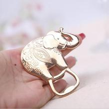 200PCS Good Luck Elephant Bottle Opener Wedding Favors Party Reception Decoration Ideas Souvenirs Gifts(China)