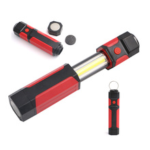 2017 New Portable COB LED Flashlight Magnetic Work Light Hook Stand Hanging Torch Lamp For Night hunting LED Light
