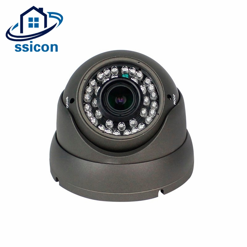 SSICON 1080P 2.0MP Varifocal Lens Metal Dome IP CCTV Camera Black Security IP Camera<br>