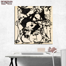 DPARTISAN jackson pollock black and white arts 1951 print Giclee wall Art Abstract Canvas Prints picture No frame wall painting