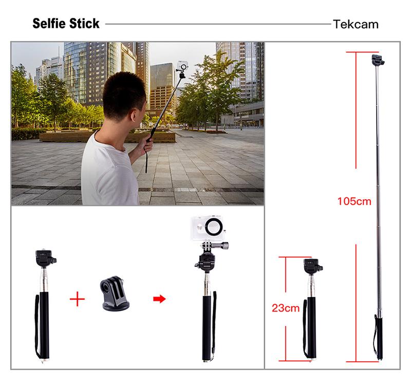 gopro sjcam xiaomi yi action camera accessories selfie stick mount2
