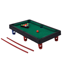 1 Set Novelty Mini billiards table sets Funny Flocking desktop simulation billiards children's play sports balls Sports Toys(China)