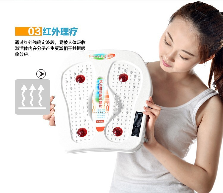 Foot massager Vibration massage Magnetotherapy health care Infrared physiotherapy Warming moxibustion therapy massage device<br>