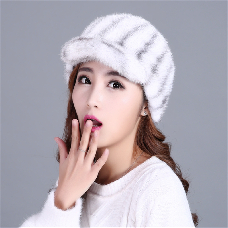 JING ER YA 2017 fashion and warmth hat for women and girls,real mink fur high-quality but cheap baseball hat<br><br>Aliexpress