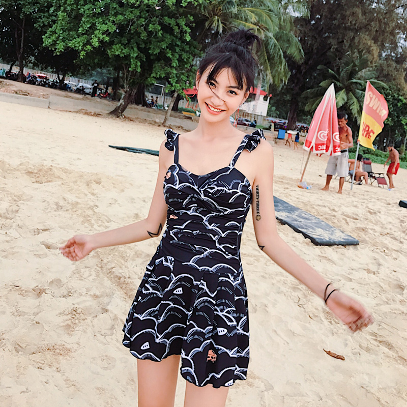 Beach Sports Swim Swimsuit Woman One-piece Swimsuit Student Spa Small Chest Gather Together Sexy Swimwear  188040<br>