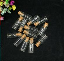 100x Cute Mini Glass Bottles with Cork Stopper Wishing Bottle Vials Jars 10x28mm Decoration Crafts small fancy pendants