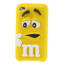 PIZU Think MM Bean Candy Smell Silicone Soft Cover for Apple iPod Touch 4 4G 8 Colors Available Brand New(China)
