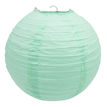 10 pieces per lot Mint Green Chinese Paper Lantern Wedding Children's Birthday Party Baby Shower Hanging Decoration