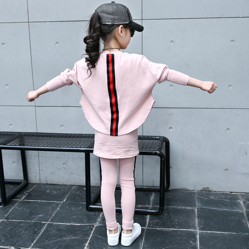Childrens Garment Girl Suit Spring Bat Shirt Culotte Two Pieces Children Hot Five-pointed Star Sets<br>
