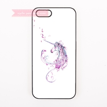 tough cover case for iphone 4 4s 5 5s 5c se 6 6S 7 Plus iPod Touch cases girly unicorn figure sketch painting flower art sweet